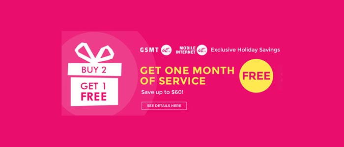 Red Pocket offering GSMT Buy Two Get One Free Deal on Airtime purchase