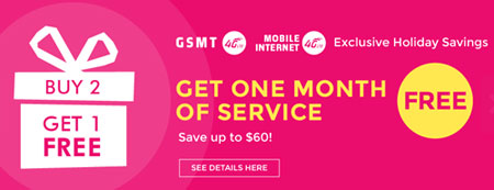 Red Pocket offering GSMT Buy Two Get One Free Deal on Airtime