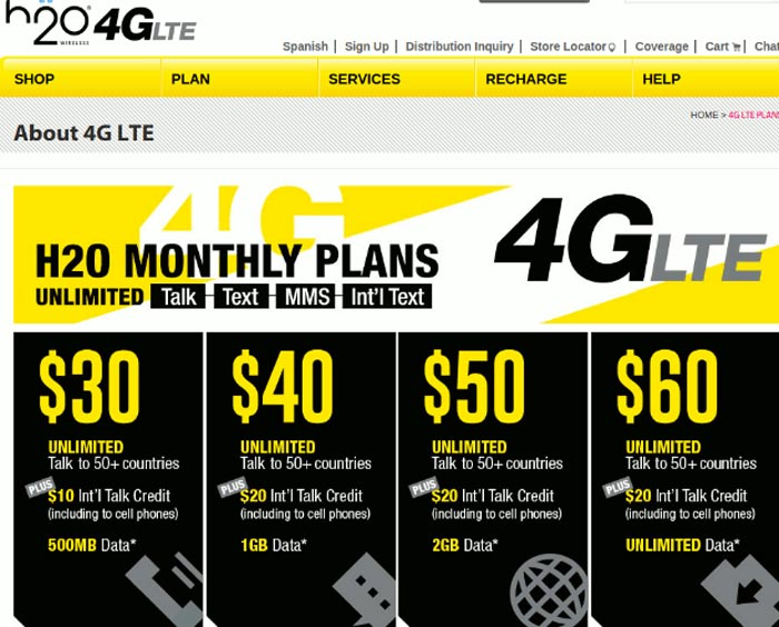 Updated: H2O Wireless plans offer LTE now, the $50 and $60 ...