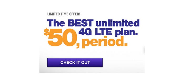 MetroPCS promo $50 unlimited LTE data plan available now, more data on other plans as well