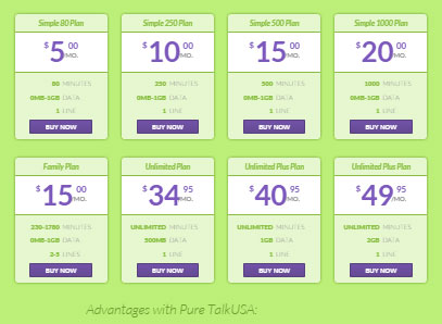 Pure TalkUSA new plan for $49.95 a month now available, improved data and minutes offering as well