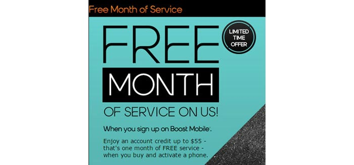 Boost Mobile offering credit up to $55 for free month of service to new customers