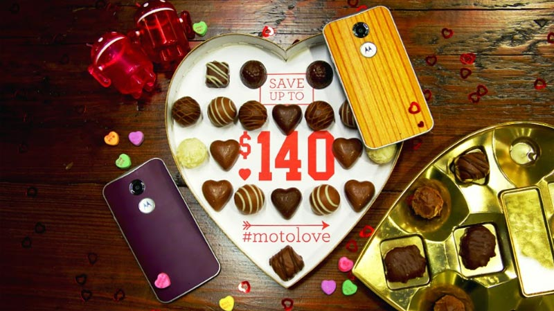Motorola offering Valentine's Day deals, up to $140 off of a purchase