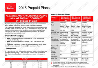 Verizon prepaid launching new $60 plan with 2.5 GB of data on March 1, changing basic plans