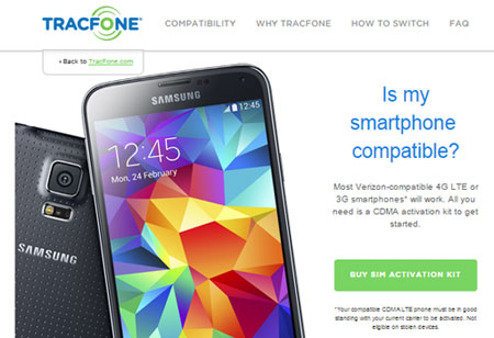 TracFone BYOD activates 4G LTE CDMA phones