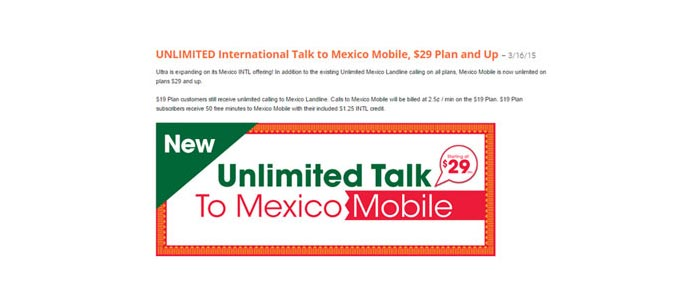 Ultra Mobile adds unlimited calls to Mexico mobiles on the $29 plans and higher