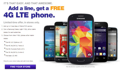 MetroPCS gives free 4G LTE phone for each added line