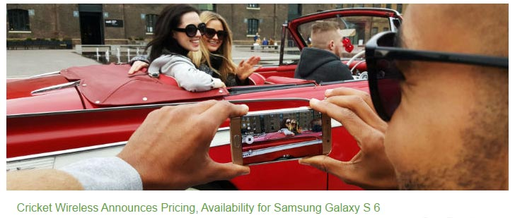 Cricket Samsung Galaxy S 6 available from April 24 with Phone Payment plans