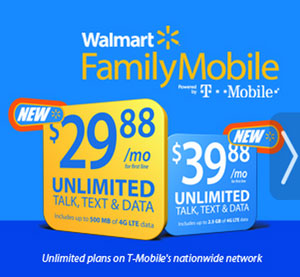 Walmart Family Mobile plans get more high speed data