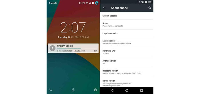 Moto E (2nd Gen.) getting Android 5.1 update now, Moto X (1st Gen.) 'in a few weeks'