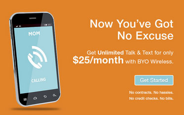 BYO Wireless adds new $25 unlimited talk and text plan, discontinues $15 plan