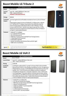 Boost Mobile LG Volt 2 and LG Tribute 2 to arrive June 29