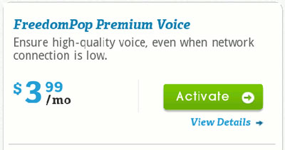 FreedomPop Premium Voice available for $3.99
