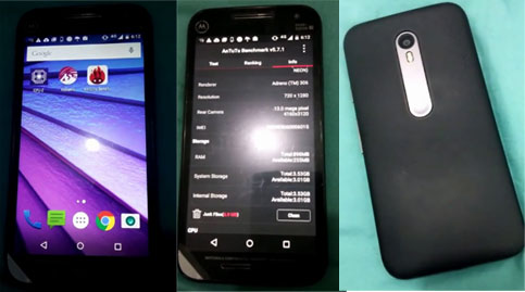 Motorola Moto G (3rd Gen.) images and specs apparently revealed