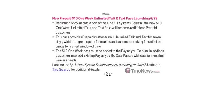 T-Mobile to add prepaid unlimited talk and text add-on for $10 per week