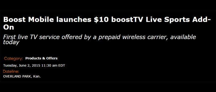 Boost Mobile now offering BoostTV and Live Sports