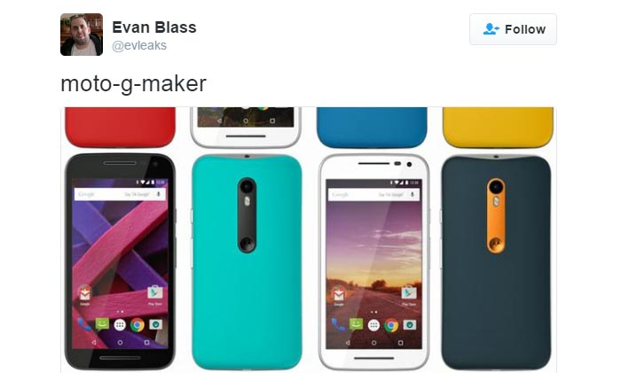 Latest leak of Moto G 2015 shows support for Moto Maker