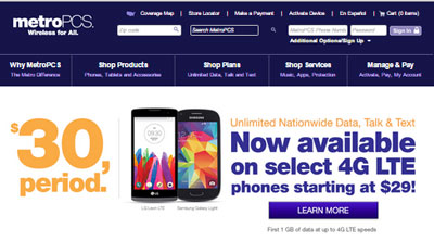 MetroPCS 4G only $30 unlimited plan now available with