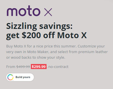 No-contract Moto X (2nd Gen.) sells for $299, Nexus 6 for $479