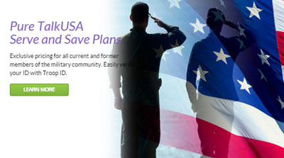 Pure TalkUSA Serve and Save plans available for current and former military members
