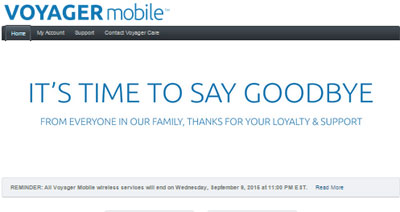 Voyager Mobile shuts down on September 9, 2015