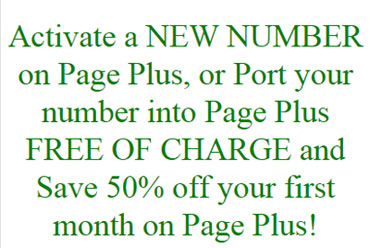 New Activations On Page Plus Get First Month At Half Price In September