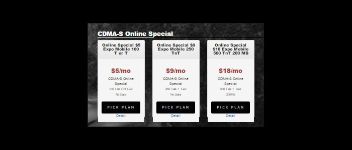 Expo Mobile Special Online Plans For CDMA Sprint And GSM T-Mobile Service Now Available