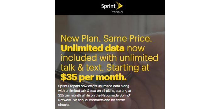 Sprint Prepaid adds unlimited data to all hard capped data plans