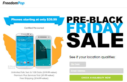 FreedomPop Black Friday 2015 Deals Available Starting Nov. 24