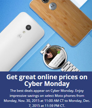 Motorola Cyber Monday 2015 deals announced, discounted Moto X and Moto G (2nd Gen.)