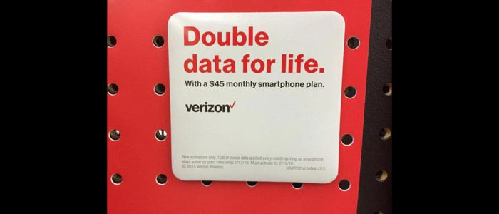 Verizon Prepaid Gives 3 GB Data With Auto Pay On $45 Plan At Walmart, Thanksgiving Promo 1GB Data Free NOT Available To Prepaid