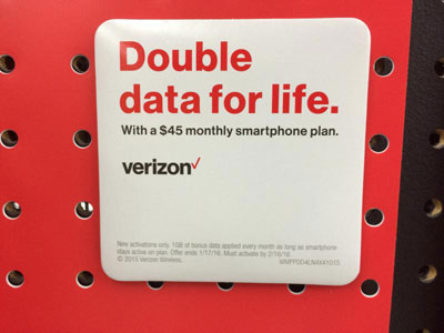 Verizon Prepaid Gives 3 GB Data With Auto Pay On $45 Plan At Walmart, Thanksgiving Promo Gives 1GB Data Free This And Next Month