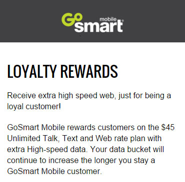 GoSmart Offers Loyalty Rewards On $45 Plan