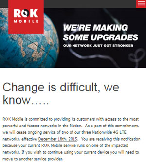 ROK Mobile To Cease Service On T-Mobile And Sprint From Dec. 18