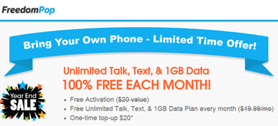 FreedomPop BYOD Promotion Gives Free 1GB Of LTE Data, Unlimited Talk And Text Each Month