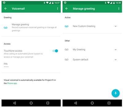 Project fi app can record and manage multiple voicemail greetings project fi app can record and manage multiple voicemail greetings now m4hsunfo