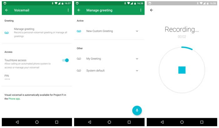 Project Fi App Can Record And Manage Multiple Voicemail Greetings Now