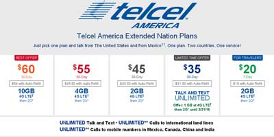 Telcel America Extended Nation Plan For $35 Offers 1GB Of 4G LTE Data Until March 31, 2016