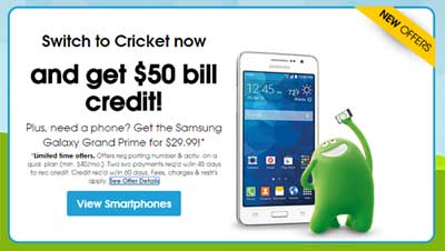 Cricket Gives $50 Credit To Customers Who Switch To Their Service