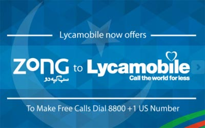 Lycamobile Adds Free Unlimited Calls From Zong To Lycamobile