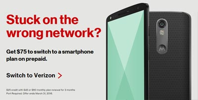 Verizon Switcher Promotion Offers $75 Credit By March 31, 2016