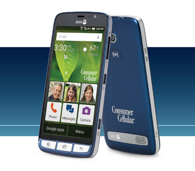 Consumer Cellular Adds Doro 824 SmartEasy To Its Prepaid Smartphone Lineup