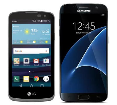 Cricket Announces LG Spree For March 11 And Samsung Galaxy S7 For March 18