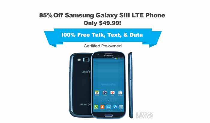FreedomPop Samsung Galaxy S3 Refurbished $49.99 For A Limited Time