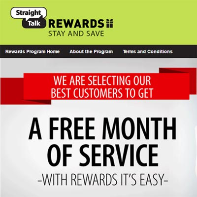 Straight Talk Loyalty Rewards Program Earns Customers Free Service Plans
