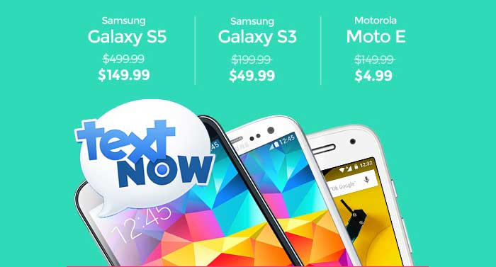 TextNow Tax Refund Sale Offers Discounted Phones until April 5, 2016