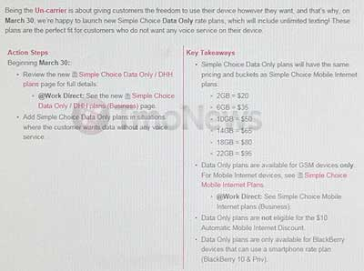 T-Mobile Might Add Simple Choice Data Only Plans On March 30