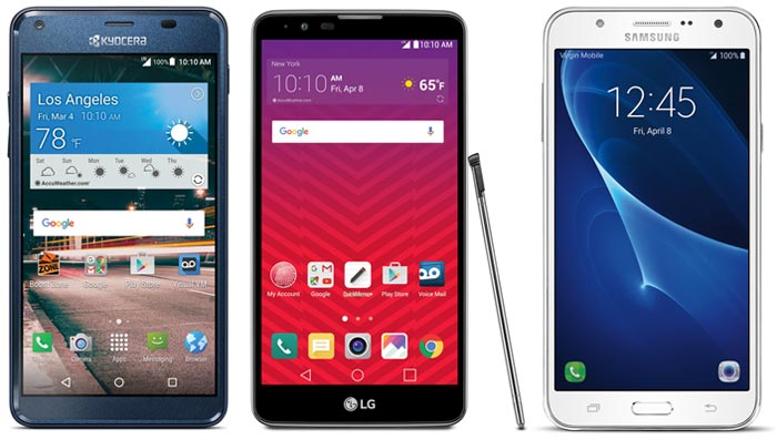 Boost and Virgin Mobile will add Kyocera Hydro Reach, LG Stylo 2 and Samsung Galaxy J7