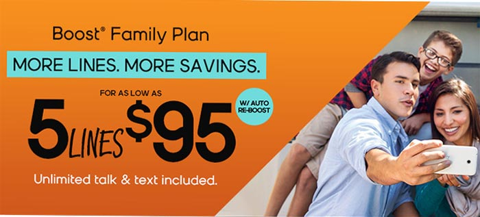 New Boost Mobile Family Plans Offer Five Lines For 95