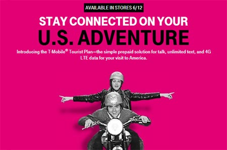 Prepaid T-Mobile Tourist Plan For People Who Visit US Launching On June 12